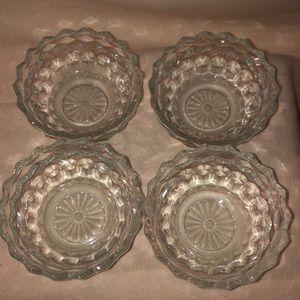 Vintage Crystal salad bowl set